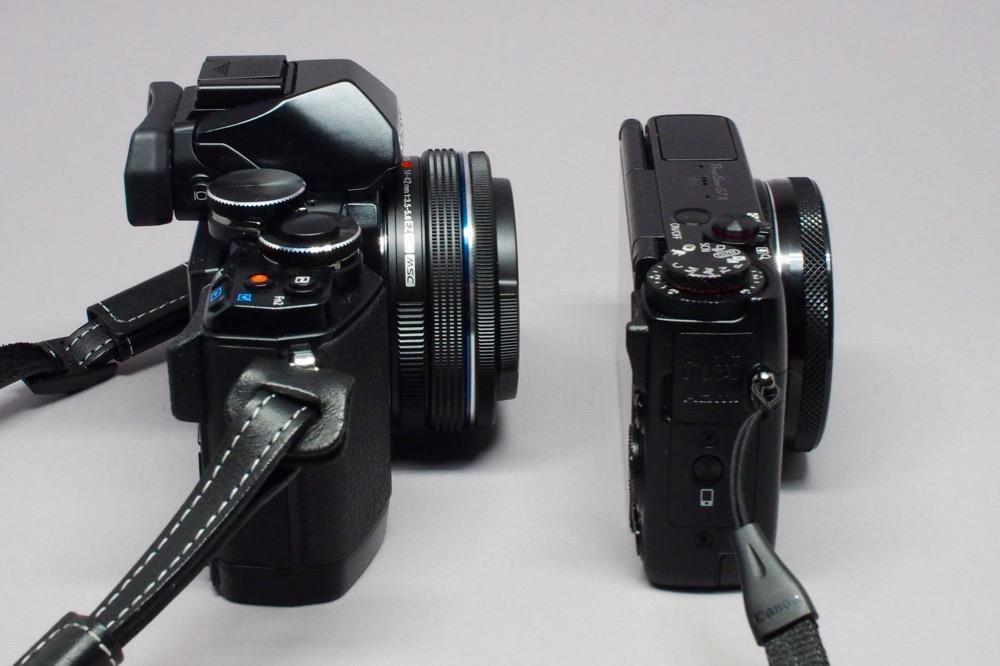 E-M10(14-42mm EZ) vs G7X